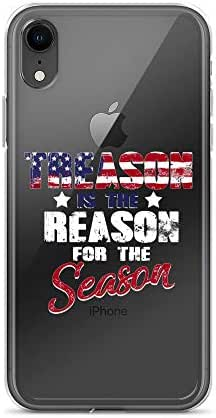 iPhone XR Pure Clear Case Crystal Clear Cases Cover America Treason is The Reason for Season 4th of July Transparent