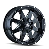 rims for 2015 chevy silverado - Mayhem Tank 17 Black Wheel / Rim 6x135 & 6x5.5 with a 18mm Offset and a 87 Hub Bore. Partnumber 8040-7937B18