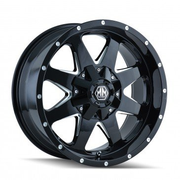 Mayhem Tank 17 Black Wheel / Rim 6×135 & 6×5.5 with a 18mm Offset and a 87 Hub Bore. Partnumber 8040-7937B18