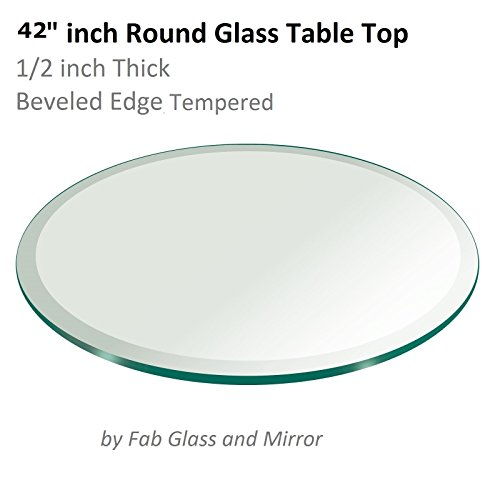 42u0027u0027 Inch Round Glass Table Top 1/2u0027u0027 Thick Tempered Beveled