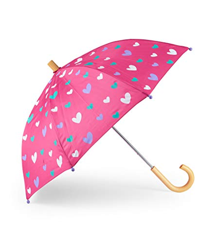 7263a58a5850e Hatley Girls' Little Printed Umbrellas, Sweethearts, One Size