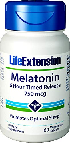 Amazon.com: Life Extension Melatonin 6 Hour Timed Release 750 mcg, 60 vegetarian tablets: Health & Personal Care