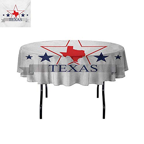 GloriaJohnson Texas+Star+Multiple+Colors+and+Sizes+San+Antonio+Dallas+Houston+Austin+Map+with+Stars+Pattern+USA+Can+be+Used+for+Parties+D51+Inch+Navy+Blue+Vermilion+Pale+Grey+