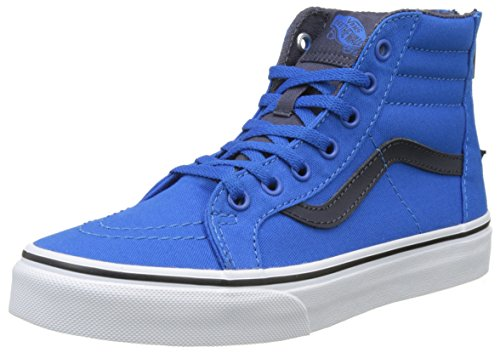 Vans Uy Sk8-Hi Zip, Zapatillas Altas para Niños Azul (Canvas Imperial Blue/parisian Night)