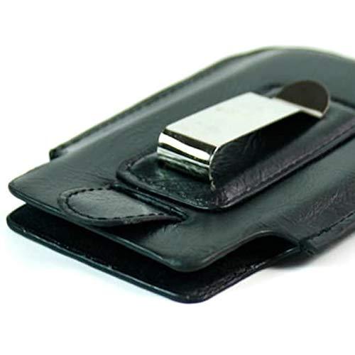 (Kroo BARE CLIP Premium Leather Case Designed for BlackBerry Storm 2/9000 Series - Black)