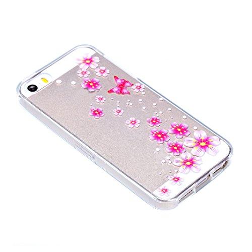 Funda iPhone 6s Gel Azul Brillos trasera Transparente Luxmovil.com