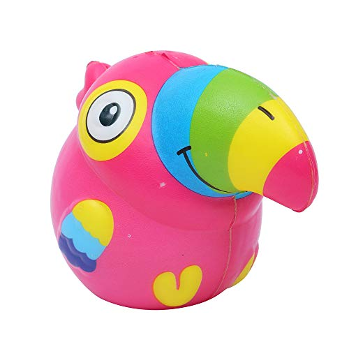 Wffo 1PCS Squeeze Cute Toucan Scented Slow Rising Decompression Toys (Hot Pink) -
