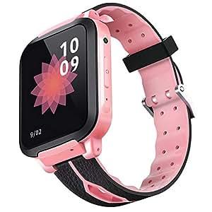 SODIAL Y30 Kids Smartwatch Waterproof GPRS LBS Location SIM Card Swimming Camera Watch Two Way Talk Cute Bracelet Wristband(Pink and Black)