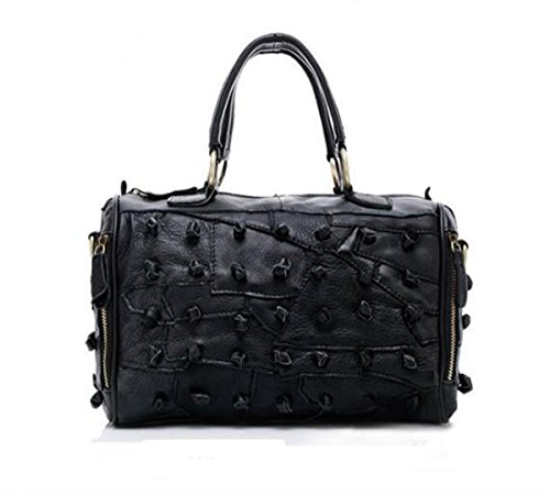backpack 7 Black bag LXopr 7 inch Leather 11 Ms Crossbody Genuine Shoulder Bags 8 4 4 RaYRPq