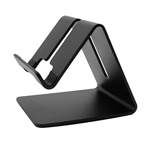 Orcbee  _Noble Aluminum Desktop Holder Table Stand Cradle Mount for Cell Phone Tablet (Black)