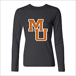 3cb3581701d99 Amazon.com  Yang Women s Mercer University Logo Long Sleeve T Shirt ...