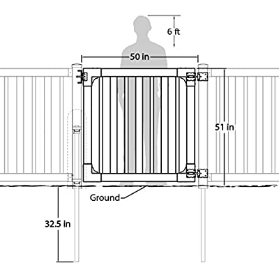 WamBam Sturbridge Vinyl Yard and Pool Gate with Hardware, 48