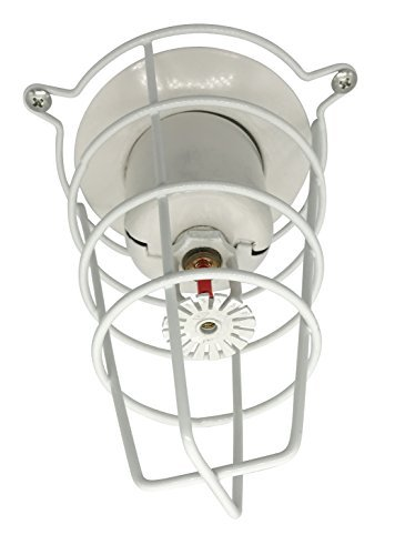 Happy Tree (8 Pack) White Fire Sprinkler Head Guard for Both 1/2 & 3/4 Sprinkler Head 6 Deep Cage