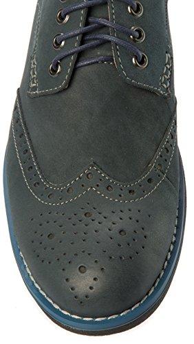Parrazo Mens Slip-on Oxfords-skor Läder Casual Mode Eller Formell Affärs Klänning Navy
