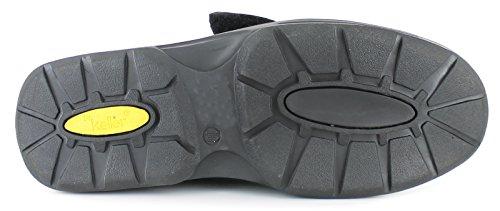 Zapatos Informales Holgados para Hombre - Negros - Números 38.5-46.5 - Negro, Sintético, 38.5