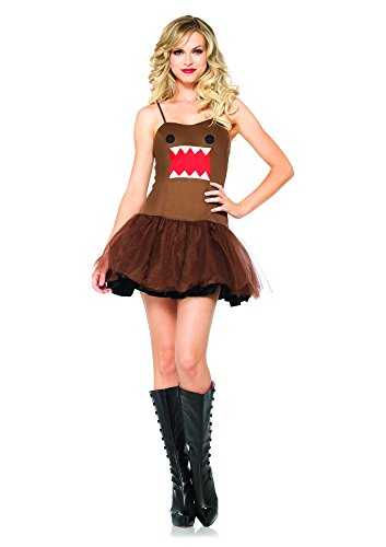 Leg Avenue Women's Domo Tutu Dress Costume, Brown, Medium -