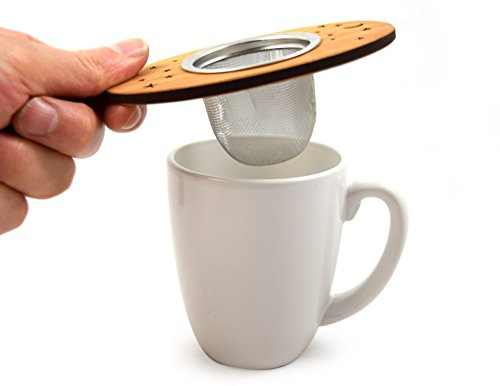 Tea Nest Strainer/Infuser, American Cherry Wood and Stainless Steel by Modern Artisans (Image #1)