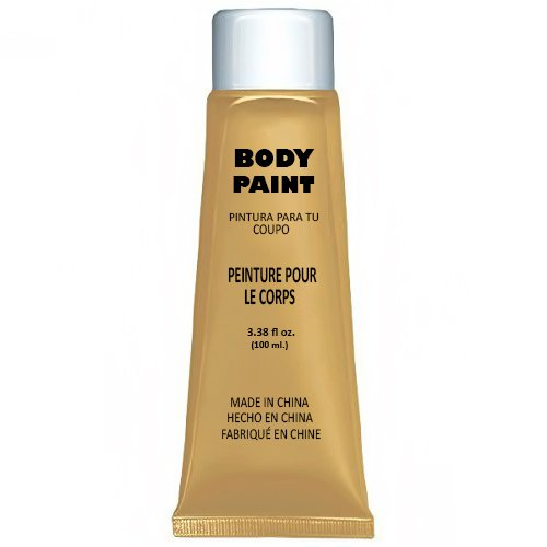 Party Perfect Team Spirit Body Paint Accessory, Gold, Non-Toxic, 3.4 Ounces