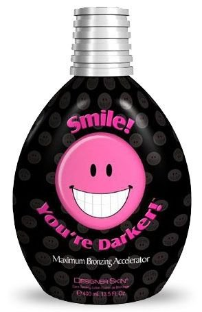 Smile You're Darker Indoor Dark Tanning Lotion - Smile Your Darker Designer Skin 400ml (13.5 Oz) by Designer Skin (Image #1)