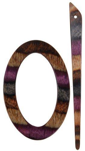 KnitPro Symfonie Wood Sigma Shawl Pin/ Stick, Lilac by KnitPro