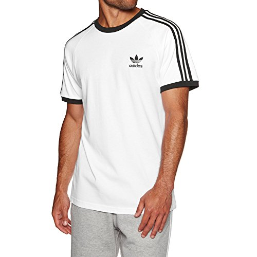 Stripes Short Sleeve Tee 3 (adidas Originals 3-Stripes Tee Short Sleeve T-Shirt X Small White)