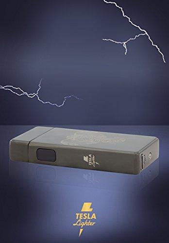 TESLA Lighter T13 | Luz Arco Mechero, Plasma Double de ARC electrónico, Recargable, Cargador con Corriente por USB, sin Gas y Gasolina, con Cable de Carga, ...
