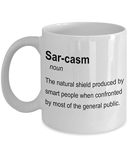 Sarcasm Definition Mug - I Speak Fluent Sarcasm 11oz Coffee Cup