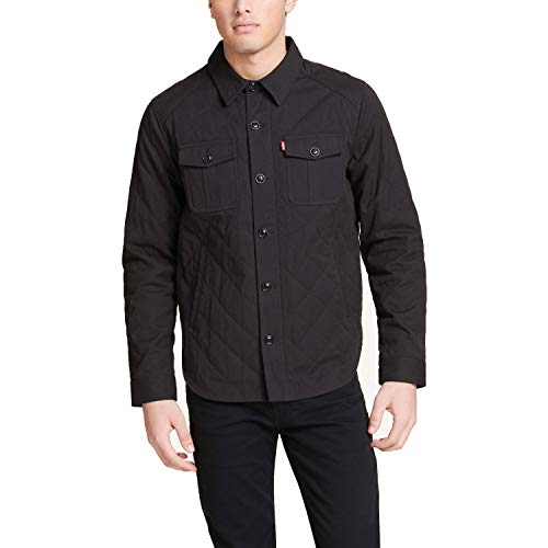 - Levi's Men's Cotton Diamond Quilted Shirt Jacket, Black, XX-Large