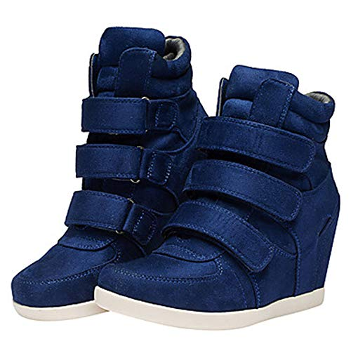 Scarpe Comoda Sneakers Marrone Vino Nappa CN37 TTSHOES Primavera UK5 Stivali Zeppa Donna US7 Blue EU37 Blu Per 5 0qXn1wUE