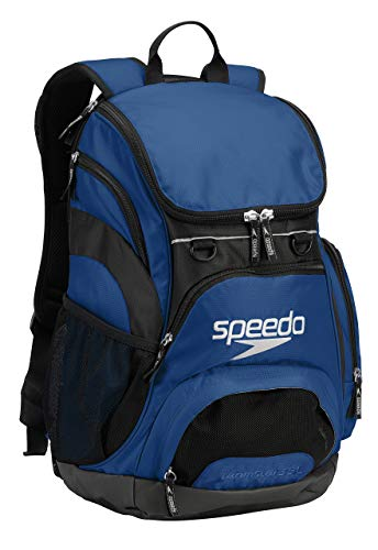 Speedo Large Teamster Backpack, Royal Blue|Black, 35-Liter