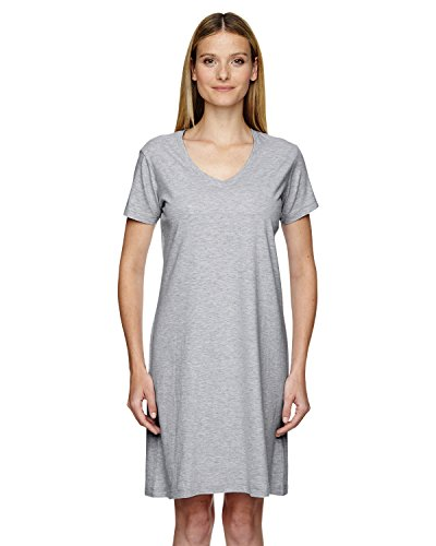LAT Ladies Fine Jersey V-Neck Coverup T-Shirt Beach and Lounge Dress
