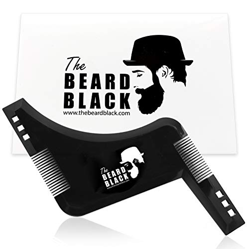The Beard Black Beard Shaping & Styling Tool with inbuilt Comb for Perfect line up & Edging, use with a Beard Trimmer or Razor to Style Your Beard & Facial ()