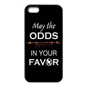 The Hunger Games Quote MAY THE ODDS BE EVER IN YOUR FAVOR Unique Apple Iphone 5 5S Durable Hard Plastic Case Cover CustomDIY