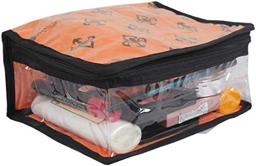 PrettyKrafts F1545HS Cosmetic Kit | Toiletry Kit | Cosmetic Organiser | Make up Kit (Single) – Orange