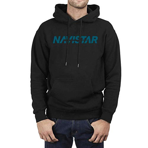 SASIA Men Black Navistar-International-Logo- Fleece Hooded ()