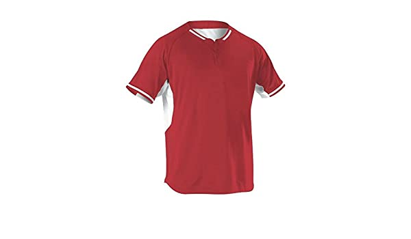 Scarlet 524PD Sports Medium Alleson Athletic Alleson Athletic Mens Baseball Jersey