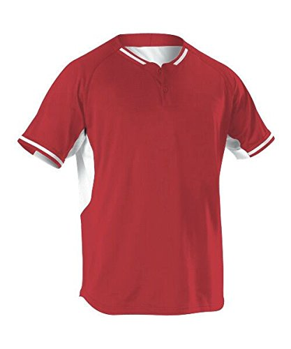 Alleson Athletic Men's Baseball Jersey, Scarlet, X-Large by Alleson Athletic