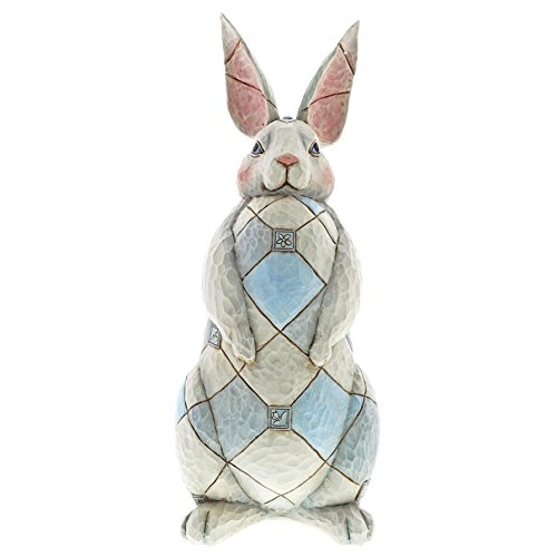 (Enesco Grey Rabbit 15.75 Inches Height x 6.25 Inches Width x 6.5 Inches Length Garden Statue Collectible Figurines )
