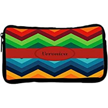 Rikki Knight Veronica Name on Fall Colors Chunky Chevron Neoprene Pencil Case (dky-Neo-pc45500)