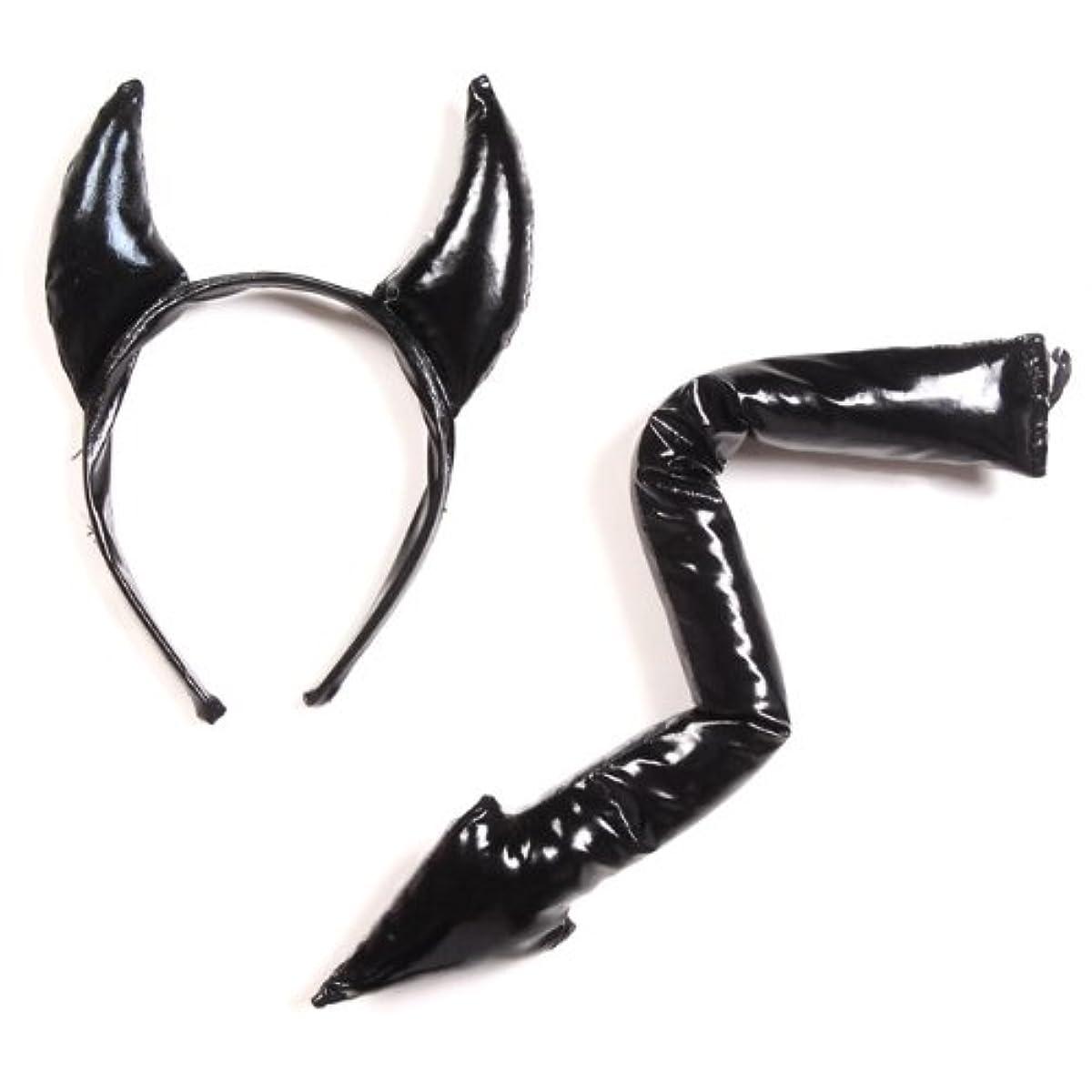 [해외] JOYBANK 에나멜 악마의개의&꼬리 세트 프리 사이즈 할로윈 소품 잡화 의상 블랙