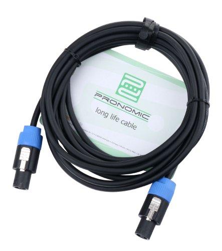 Pronomic BOXSP2-5 Lautsprecherkabel DJ PA Boxenkabel (Professionelles Boxenkabel, Speakon kompatibel, Länge 5m, säure- und ölfest, Spannzangen-Zugentlastung)