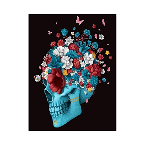 - Chenway Diamond Painting 5d Crystal Square Diamond Hand-Painted Embroidery Kits Full Diamond Embroidery Painting Picture by Adult Number Children Home Wall Decor 20x25cm (Blooming Skull)