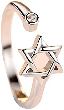 レディース ファション 指輪 リング 可愛い スター 星 オープンリング フリー サイズ 調整可能 プレゼント 手飾り 結婚式 誕生日 記念日 バレンタインデー