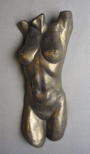 Female Nude Torso Wall Decor Sculpture - Signed By Artist Michael Alfano *Amazon Exclusive*