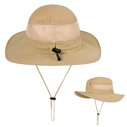 - Unisex Sun Hat Fishing Boonie Cap Wide Brim Safari Hat Adjustable Drawstring Under 5 Dollars Hats for Women Baseball caps