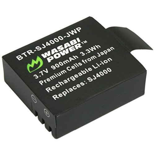 Wasabi Power Battery for 1080P and 4K Action Cameras (Compatible with Crosstour, FITFORT, DBPower, AKASO, Aokon, Campark, DMYCO, HEIHEI, SOOCOO, ThiEYE, Vemico, VVHOOY, SJCAM M10, SJ4000, SJ5000 +)