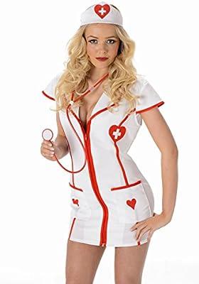 Generique - Disfraz Enfermera Sexy: Amazon.es: Juguetes y juegos