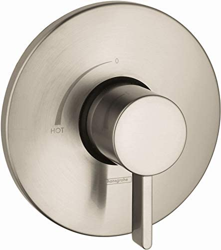 hansgrohe Commercial Modern Premium Easy Control 1-Handle 7-inch Wide Pressure Balance Shower Valve Trim in Brushed Nickel 04496820