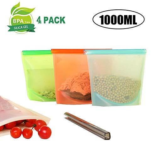 Xiaomio - Bolsa de silicona reutilizable para almacenamiento ...