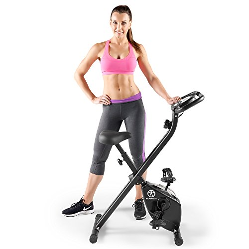 Marcy Folding Upright Exercise Bike with Magnetic Resistance NS-654 – DiZiSports Store